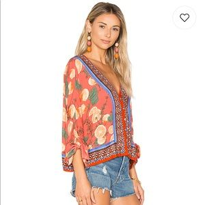 Free People Freshly Squeezed Top in Red